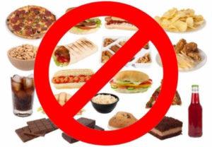 Исключение жирной пищи при выводе токсинов из мочи